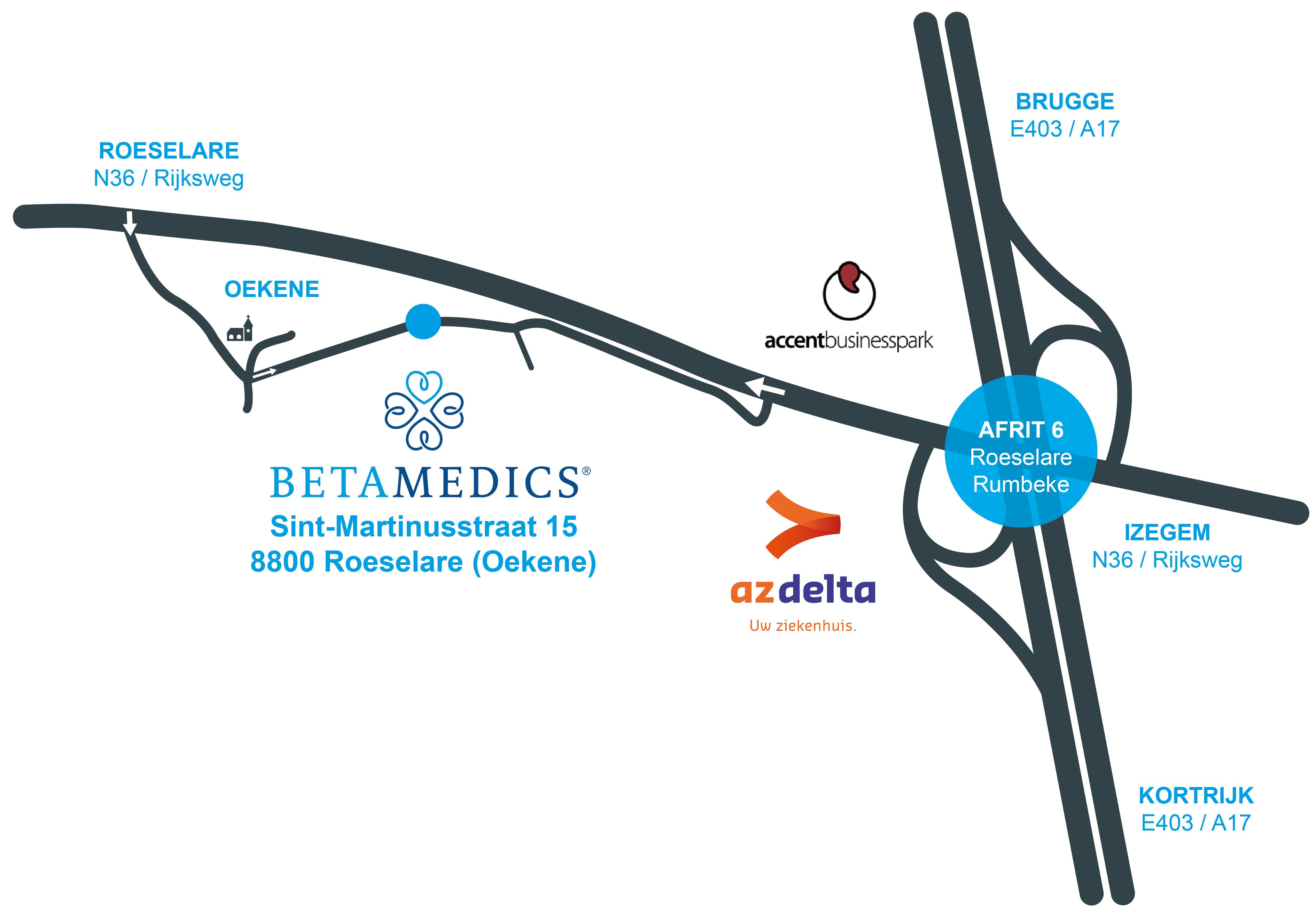 Routebeschrijving Betamedics